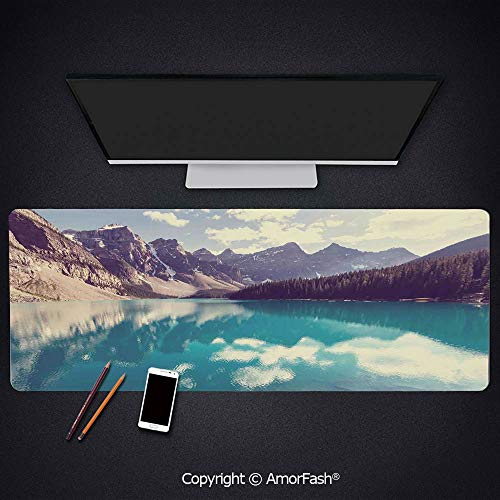Large Printed Base Mouse pad for Laptop,Computer & PC,Non-Slip Rubber,31.5