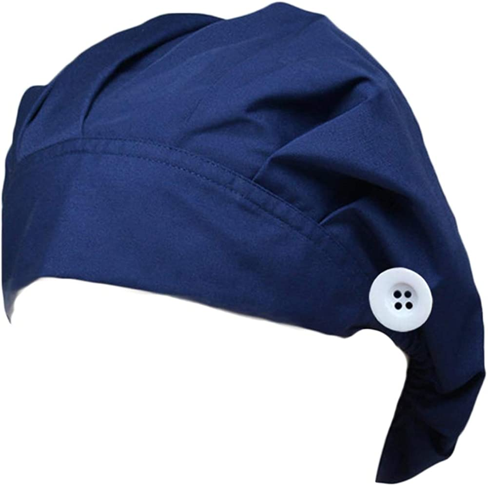 HADM Working Hat with Buttons and Cotton Sweatband Lightweight Breathable for Women Men