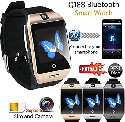 Bluetooth Smart reloj Q18 NFC pulseras reloj inteligente SIM ...