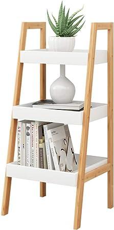 HM&DX Madera Escalera Librerías estanterías, Contemporáneo Biblioteca Rack VersÁtil Estante de Almacenamiento Organizador para Salon Oficina Dormitorio-B 3 Estantes: Amazon.es: Hogar