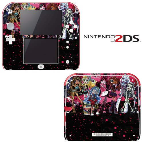 Monster High Ghoul Bloody Dolls Decorative Video Game Decal Cover Skin Protector for Nintendo 2Ds by Decals Plus