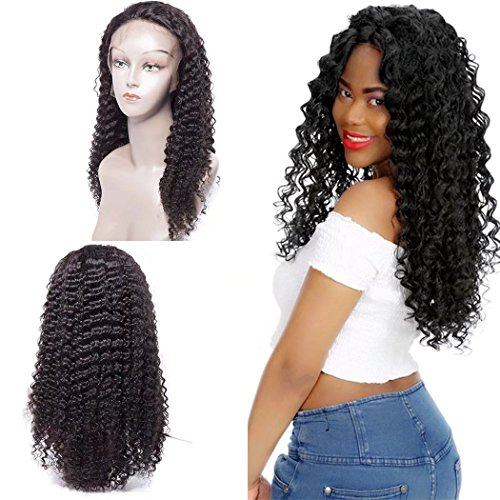 Maxine Curly Lace Front Wigs Human Hair 130% Density Brazilian Virgin Curly Wig with Baby Hair for Black Women Natural Color - Day 2 Shipping Express