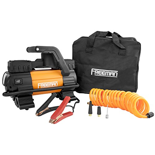 Freeman P45LMTI High Power Portable 12V Tire Inflator with Gauge by Freeman (Image #1)