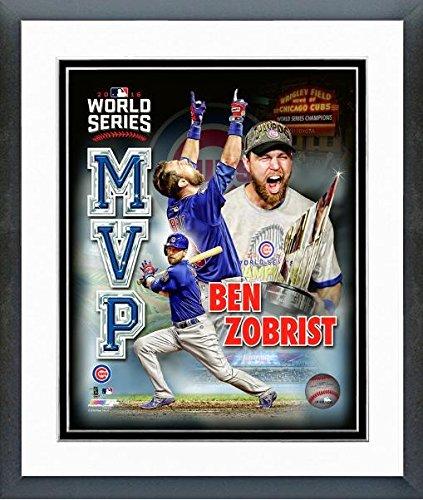 "Ben Zobrist Chicago Cubs 2016 World Series MVP Photo (Size: 12.5"" x 15.5"") Framed"