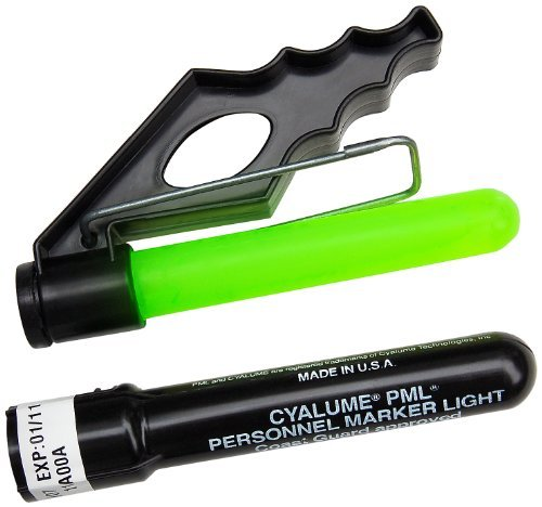 Cyalume ChemLight Military Grade Life-Vest PML Personnel Marker Chemical Light Sticks, Green, 5-1/4 Long, 8 Hour Duration (Case of 50)-US Coast Guard Approved by Cyalume - Hour Markers Case