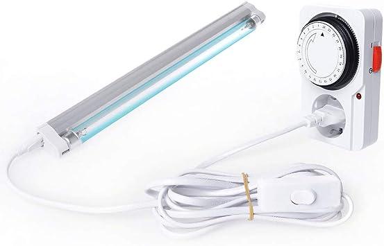 Schatzboot - Lámpara UV de ozono (8 W, para armarios, zapatos, purificador de aire, limpiador de desinfectantes, bacterias, microbios y virus): Amazon.es: Hogar