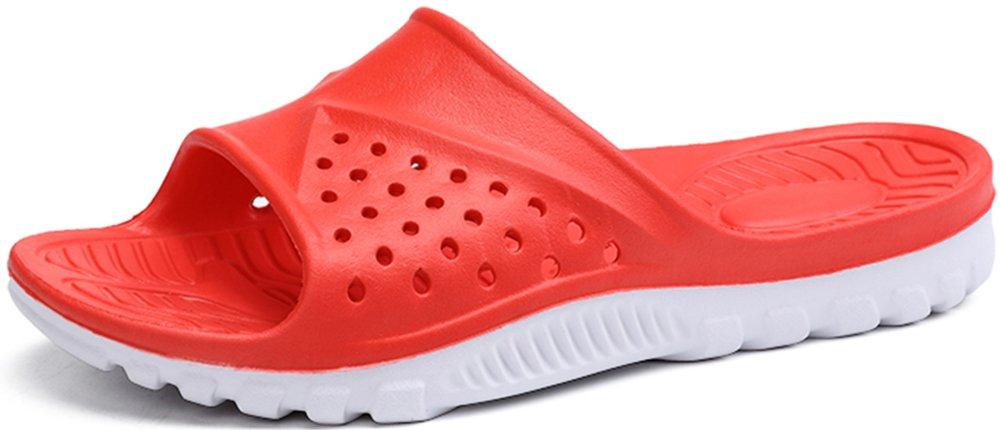 Phefee Mens Slide Sandals Anti-Slip Lightweight Bathroom Shower Slipper(Red40) by Phefee (Image #6)