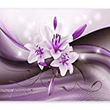artgeist Photo Wallpaper Purple Flowers 154'x110' XXL Peel and Stick Self-Adhesive Foil Wall Mural Removable Sticker Premium Print Picture Image Design Home Decor b-A-0307-a-c