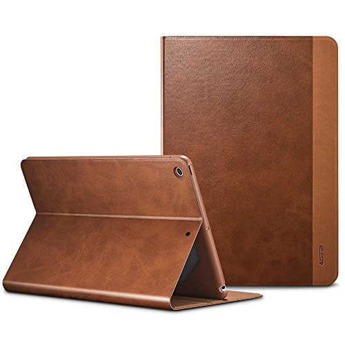 ESR iPad 9.7 2018/2017 Case, Urban Series Premium Folio Case, Book Cover Design, Multi-Angle Viewing Stand, Smart Cover Auto Sleep/Wake Function for Apple iPad 9.7-inch 2017/2018 (Brown)