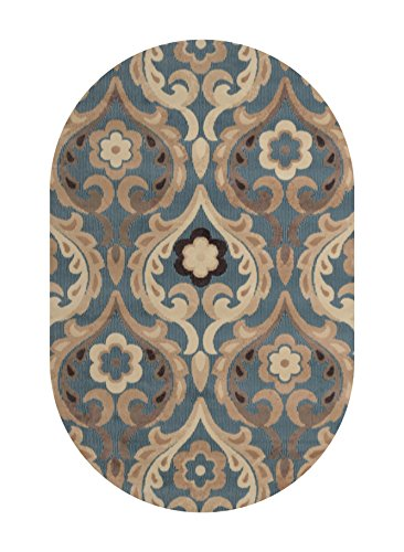 Home Dynamix HD4902-309 Catalina Oval Area Rug, 31 by 50-Inch, Blue
