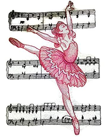 BeyondVision LetS Dance Custom And Unique Embroidered Embroidered Iron On Sew Patch 5.88x8.42 black,red Sugar/Plum/Fairy/Ballerina
