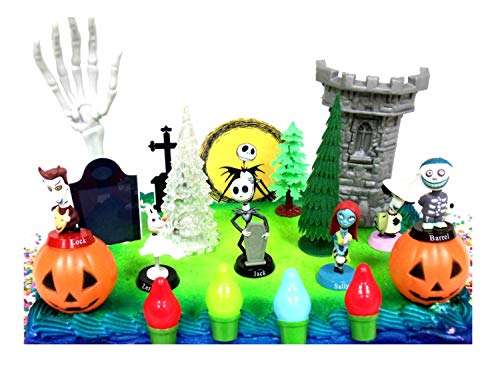 Nightmare Before Christmas 17 Piece Birthday Cake Topper