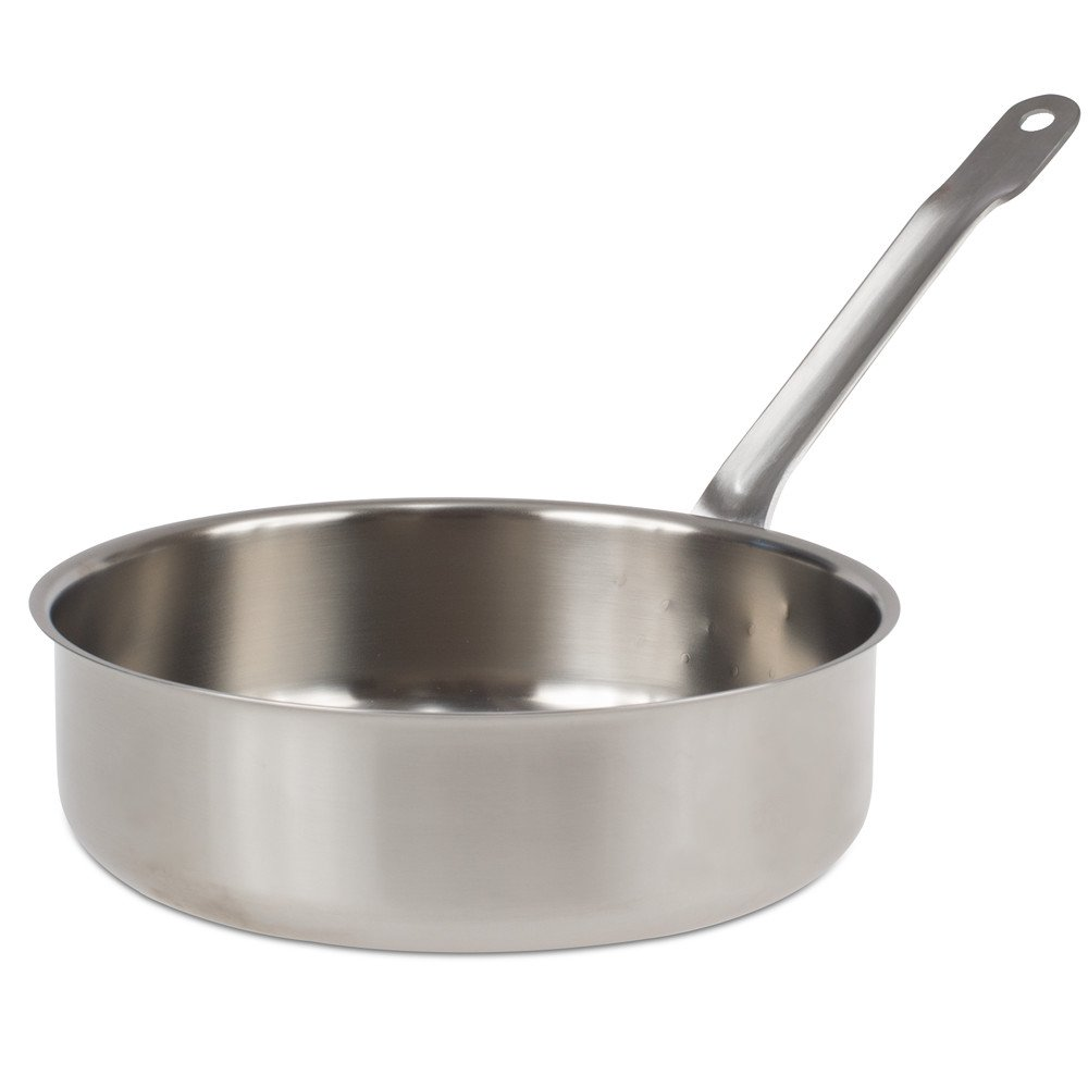 SITRAM 711806 Collectivite Pro Saute Pan, Stainless steel