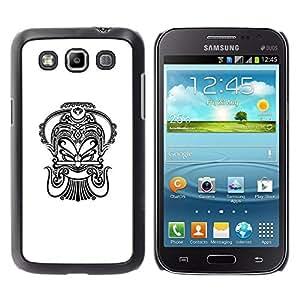 For Samsung Galaxy Win / i8550 / i8552 / Grand Quattro , S-type® Art Black White Tattoo Ink - Arte & diseño plástico duro Fundas Cover Cubre Hard Case Cover