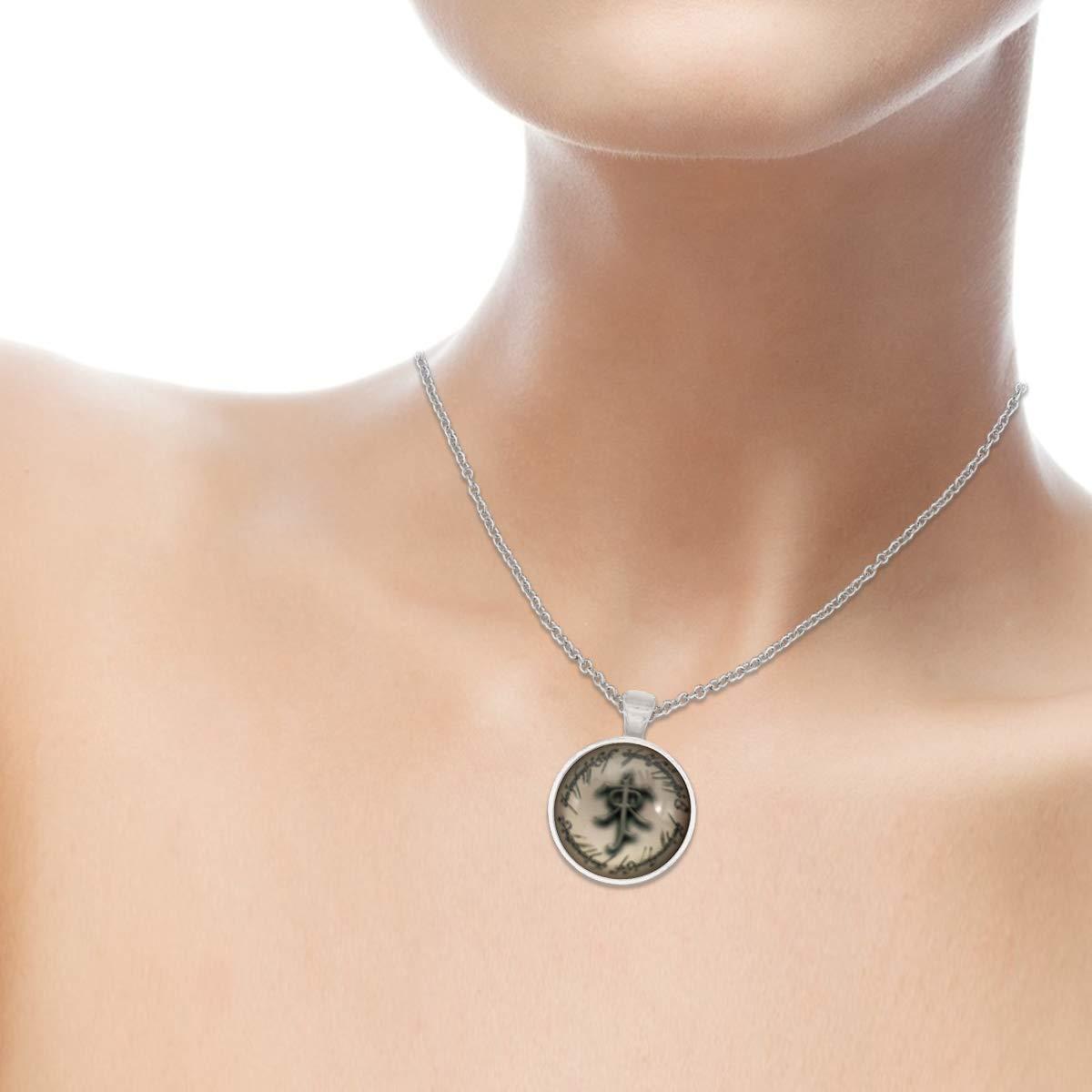 Family Decor Wortkunst Pendant Necklace Cabochon Glass Vintage Bronze Chain Necklace Jewelry Handmade