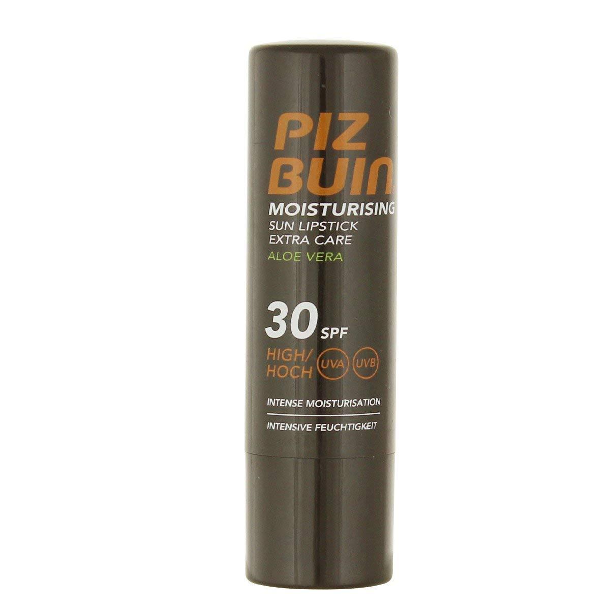 4 x Piz Buin Moisturising Sun Lipstick Extra Care Aloe Vera SPF30 4.9g