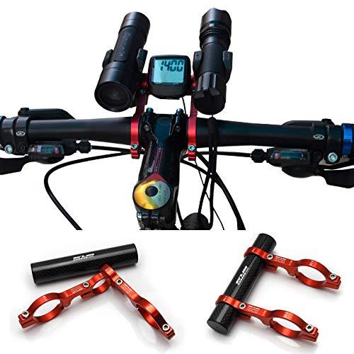 Freelance Shop スポーツ 自転車 バイク ダブル ハンドルバー エクステンション マウント カーボンファイバー エクステンダー ライト ホルダー 延長用 31.8MM - チタン   B07MB4B4CL