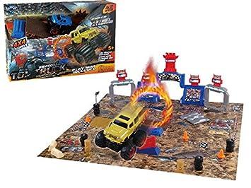 Bigfoot Y Super PiezasAmazon Saltos Pista Juegos 42 esJuguetes 0ON8wXnPk