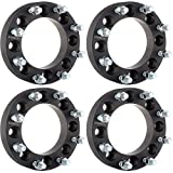 SCITOO 4PCS 1.5'' or 38mm 8x6.5 to 8x180 Black wheel spacers Bolt On 14x1.5 Studs 130mm CB Adapters for Chevy K3500 GMC Sierra 1500 HD Sierra 3500 Hummer H2