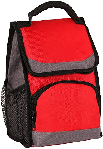 aimtrend-insulated-zippered-top-closure-lunch-pack-deluxe-cooler-bag-with-ice-pack-red