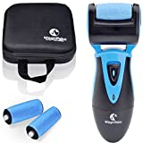 Safe and Painless , Electric Callus Remover ,Foot File and pedicure tools for Dry Cracked Dead Skin for your Heels and Feet. with 3 Rollers refill & Travel Storage Case