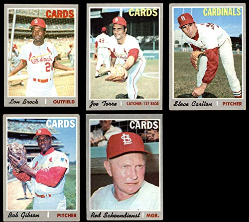 Amazoncom 1970 Topps St Louis Cardinals Team Set St
