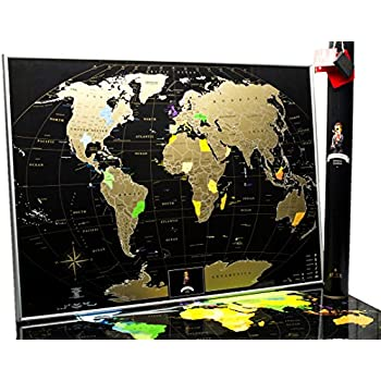 Amazon mymap deluxe gold black world scratch off map w mymap deluxe gold black world scratch off map w large us states 35 gumiabroncs Image collections