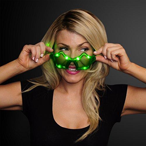 Flashing Light Up LED Star Shaped Glasses in Assorted - Blinking Sunglasses