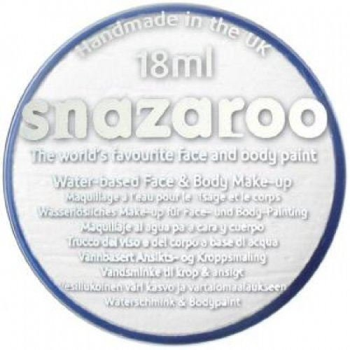 Snazaroo Halloween Scary Clown IT Water Based Face & Body Make Up for Fancy Dress - White 18ml -