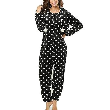 Pijama de una Pieza para Mujer, Mono, chándal, Pantalones, Peleles ...
