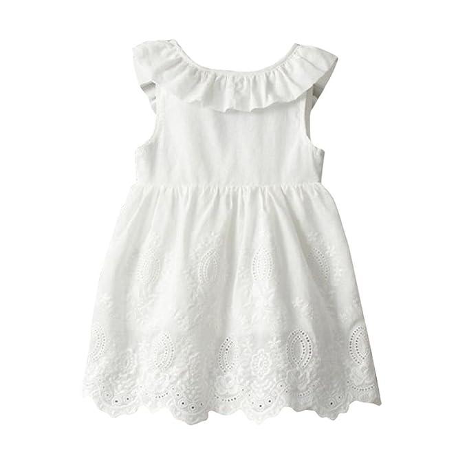 Kleid Mädchen, HUIHUI Toddler Mädchen Kleid Ärmelloses Großer Bogen ...