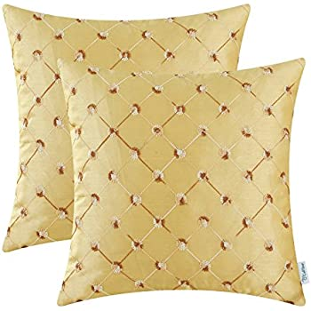 pack of 2 calitime cushion covers throw pillow cases shells for home sofa couch 18 x