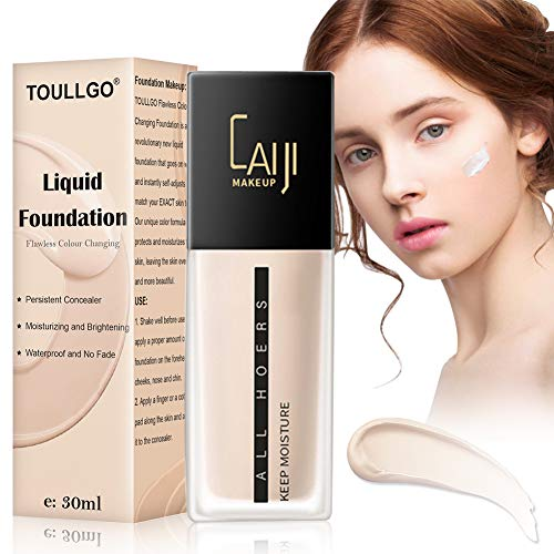 Liquid Foundation,Foundation Makeup,Color Changing Foundation,Flawless Finish Foundation,Cream Concealer, Moisturizing Liquid Cover Concealer for All Skin Types, 30ML (The Best Liquid Foundation)