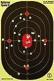 """12"""" X 18"""" Bullseye Super Splatter Targets 10, 25, 50, 100 Packs - Creates Huge Super Splatter Spots - See Your Hits Instantly (100)"""