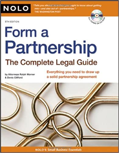 Amazon Com Form A Partnership The Complete Legal Guide
