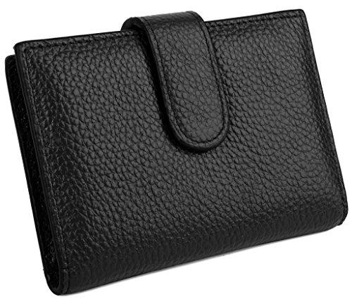 YALUXE Slots Cowhide Leather Holder