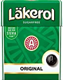 4 Boxes x 25g of Läkerol Original - Swedish - Sugar Free - Licorice & Menthol - Stevia - Pastilles - Lozenges - Drops - Dragees - Candies - Sweets