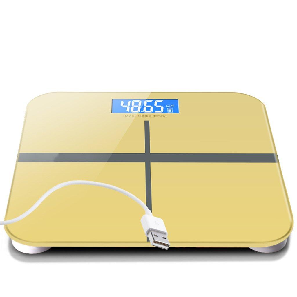 GUOYUN Pink USB Escalas electrónicas precisas Escalas de la salud Escala del cuerpo Moderno simple interior de regalo al aire libre Personalidad creativa ...