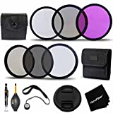 Professional 58MM Filters Accessory KIt w/ 3 Piece 58mm Filter SET (UV + FLD + CPL) + 58mm ND Filters KIT (ND2 ND4 ND8) 58mm Lens Cap for Canon EOS Rebel T6i T6s T5i T5 T4i T3i T3 and all 58mm Cameras