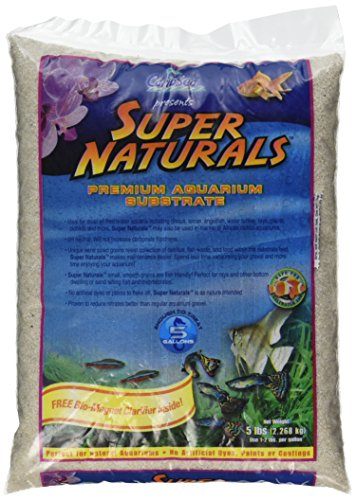 Carib Sea ACS05840 Super Naturals Crystal River Sand for Aquarium, 5-Pound by Carib Sea