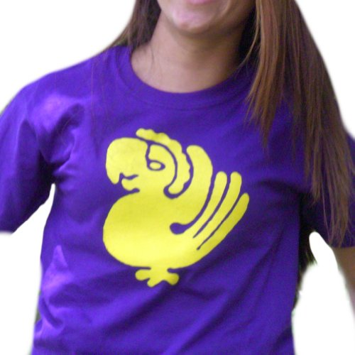 [Purple Parrots T-Shirt-Womens Medium] (Parrot Costume Female)