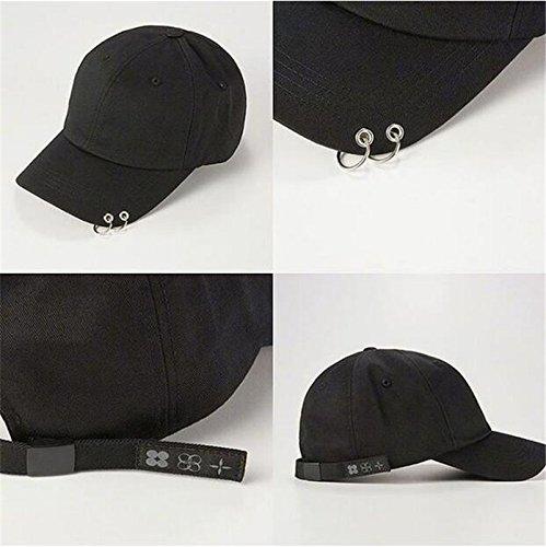 Fashion Iron Ring Hats Adjustable Baseball cap