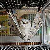 Whitelotous Pet Hammock Cat Bed Cat Mat Cat Litter Cat Favorite Hammock (M: 35*35cm)