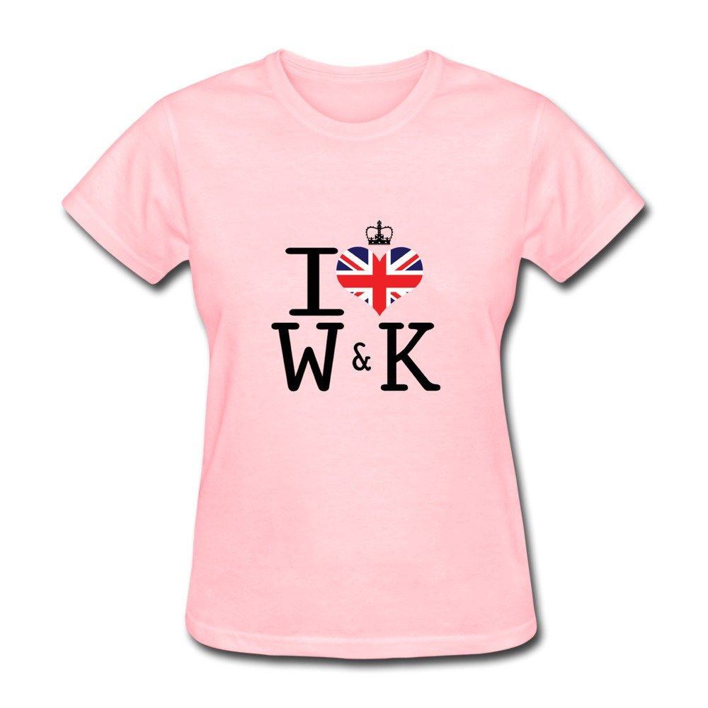 Ryan Women's T-shirts I Love Willian&Kate Pink