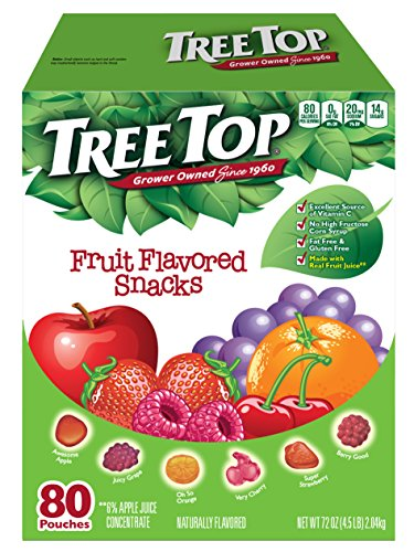 All Snacks Fruit Natural (Tree Top All Natural Fruit Snacks (80 Pouches))