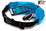 Running Belt by Pifito (TM) - 2 Pocket Design Waist Pack for iPhone & Keys - Fanny Pack Pouch for Sports, Exercise, Jogging or Gym Workout