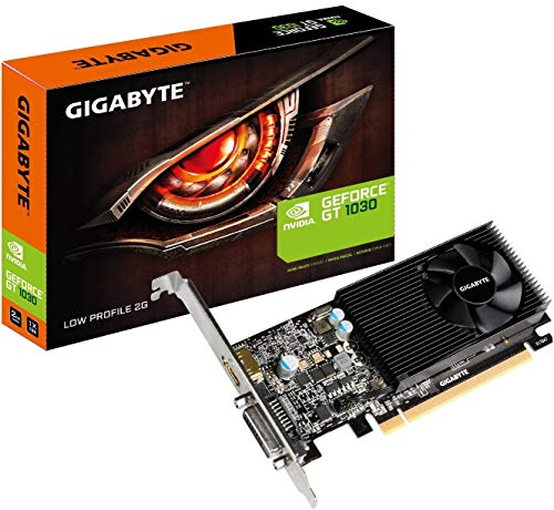 GIGABYTE GeForce GT 1030 GV-N1030D5-2GL Low Profile 2G Computer Graphics Card (Video Card Nvidia 2gb)