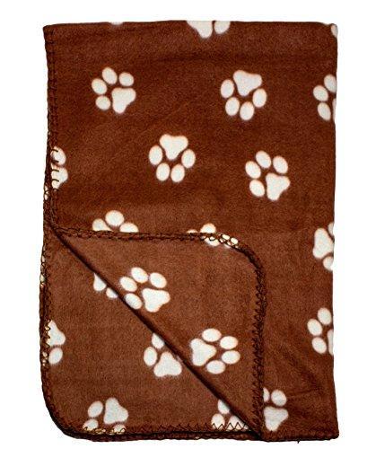 Brown Fleece Blanket Print Pattern