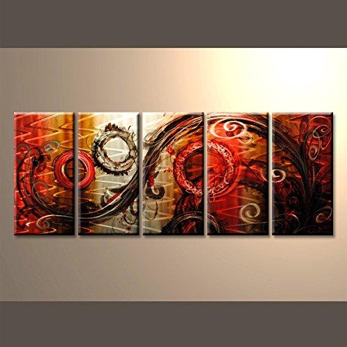 【現代アート工房】 メタルアート 現代絵画 立体感のあるモダンアート ハンドメイド作品 抽象画ライン 2FMA-410 30×80cm-5 B01MZAC9K2 抽象画410 抽象画410