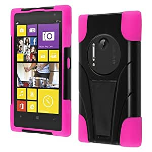 HR Wireless T -Stand Cover for Nokia Lumia 1020 - Retail Packaging - Black/Hot Pink